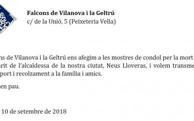 Condolències per la mort de Xavier Vidal